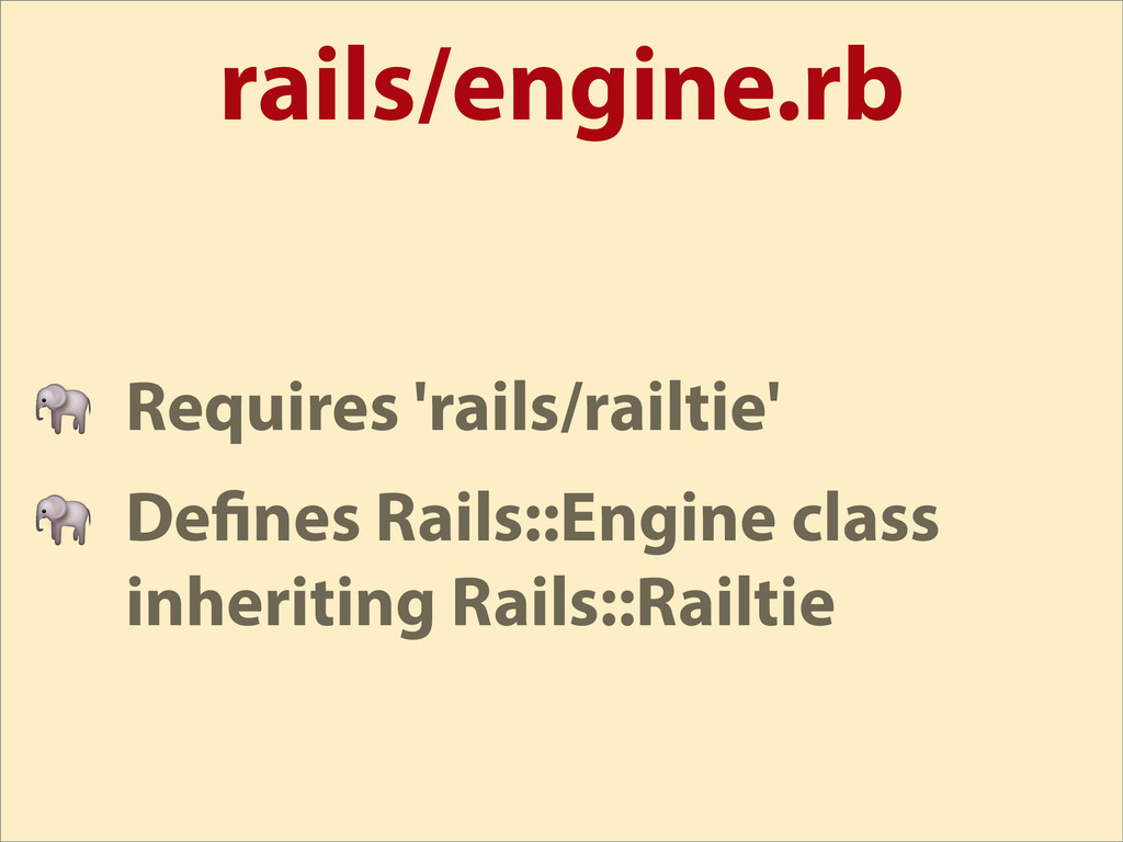 rails/engine.rb  Requires 'rails/railtie'  De n...