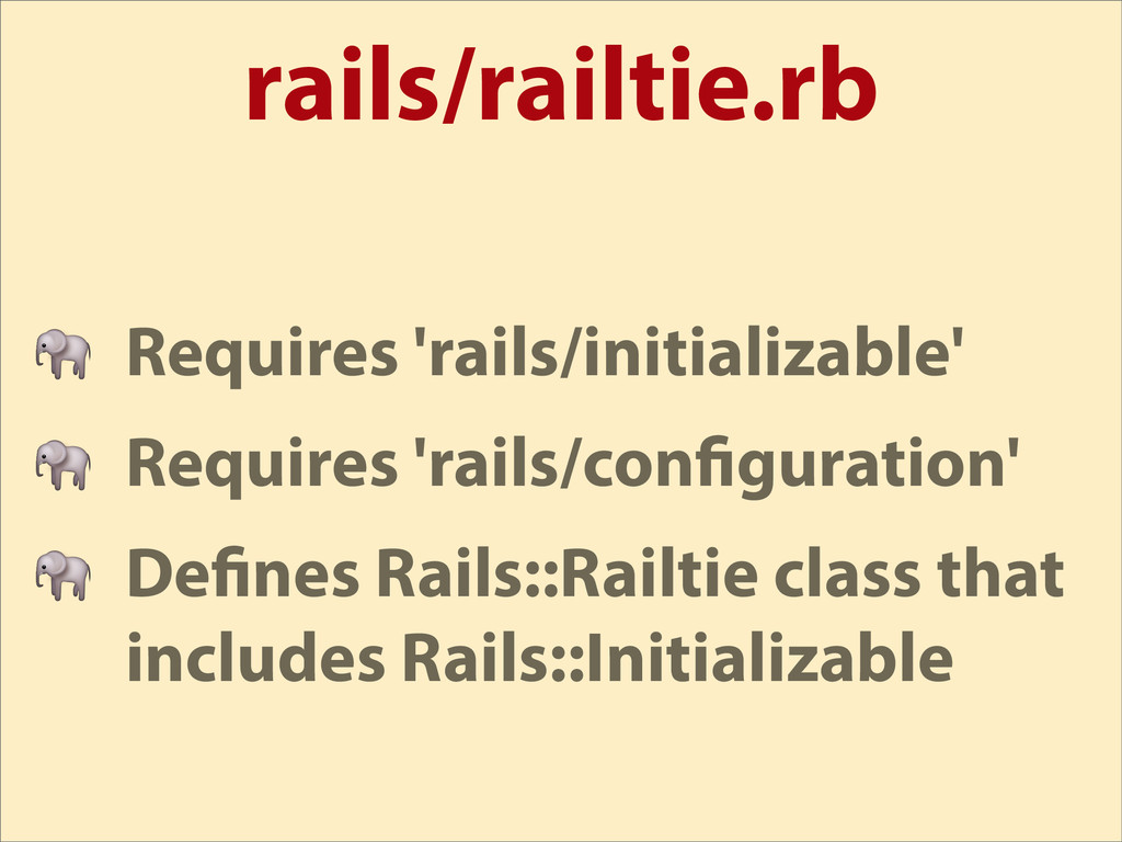rails/railtie.rb  Requires 'rails/initializable...
