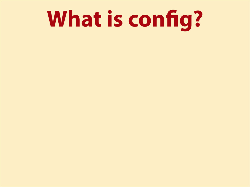 What is con g?