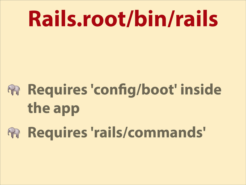 Rails.root/bin/rails  Requires 'con g/boot' ins...