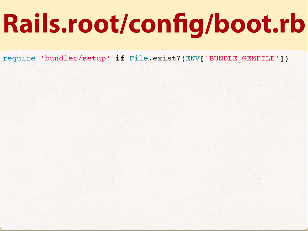 Rails.root/con g/boot.rb require 'bundler/setup...