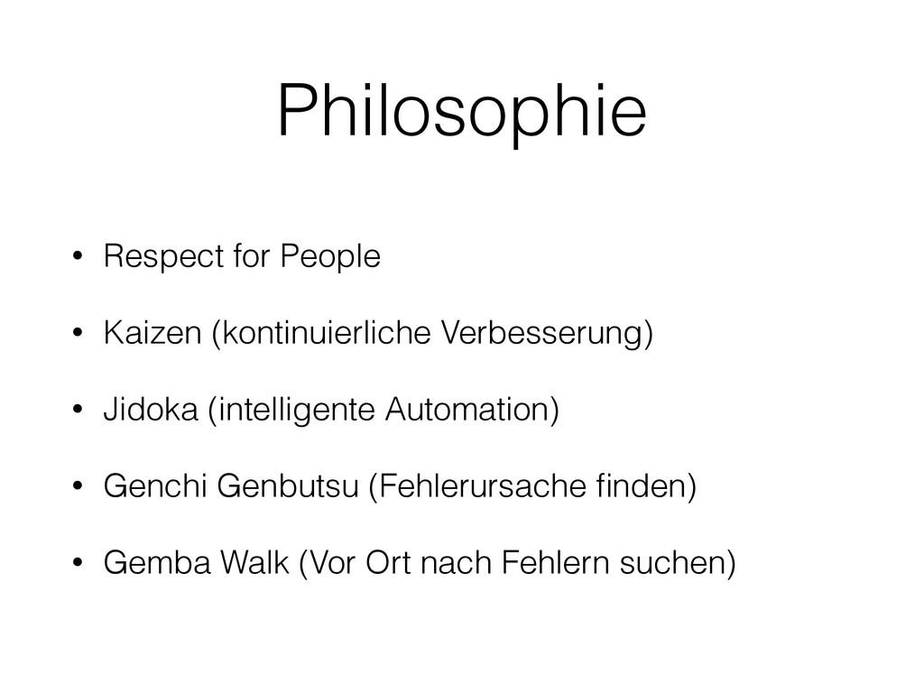 Philosophie • Respect for People • Kaizen (kont...