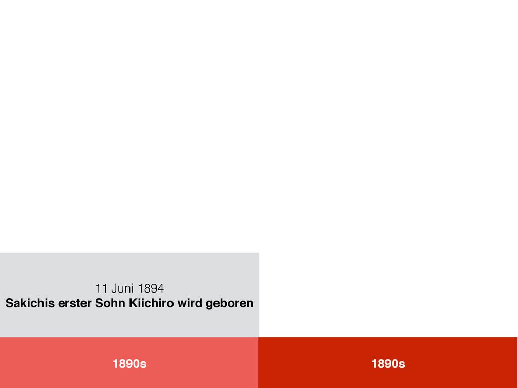 1890s 11 Juni 1894 Sakichis erster Sohn Kiichir...