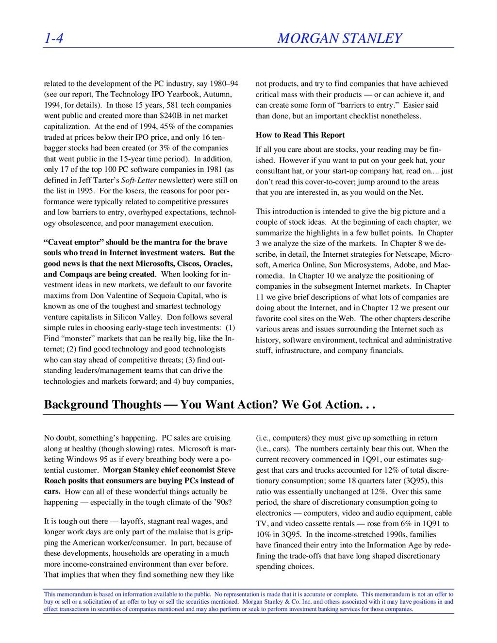 1-4 MORGAN STANLEY This memorandum is based on ...