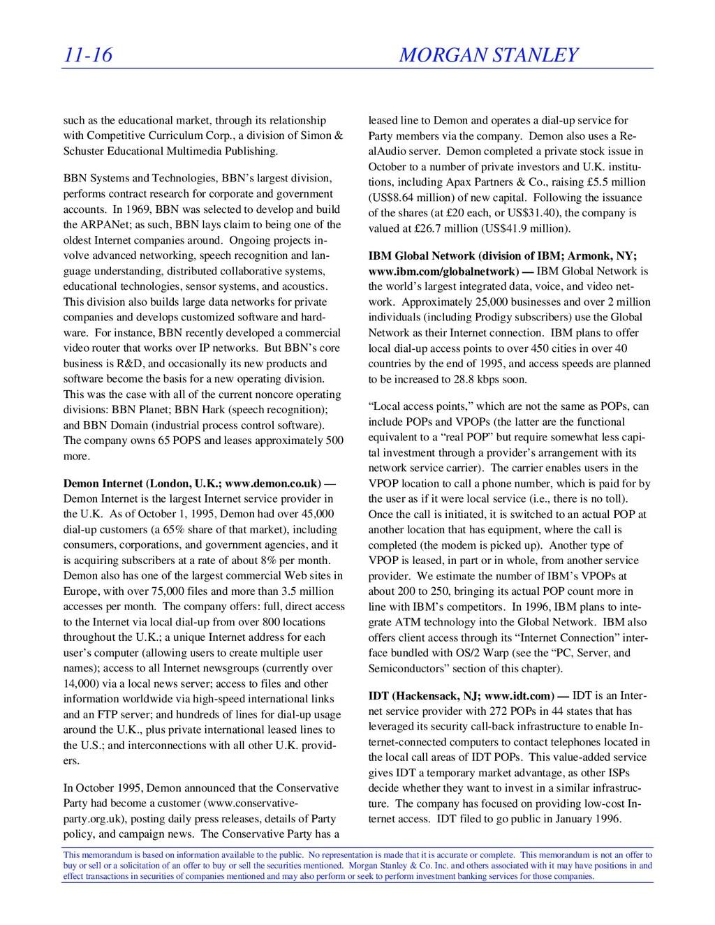 11-16 MORGAN STANLEY This memorandum is based o...