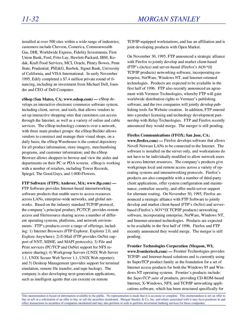 11-32 MORGAN STANLEY This memorandum is based o...