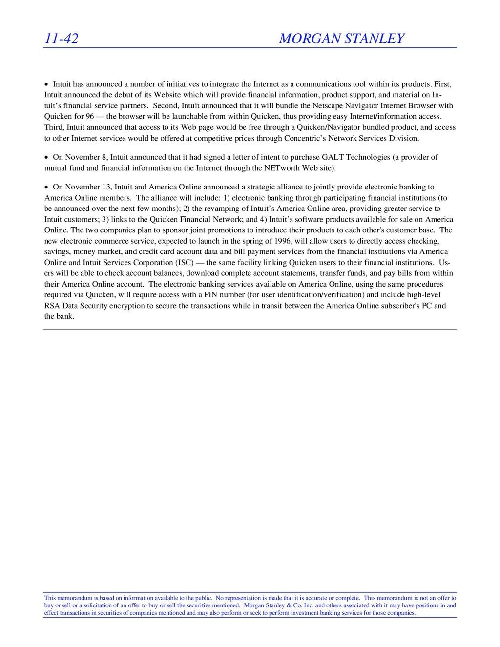 11-42 MORGAN STANLEY This memorandum is based o...