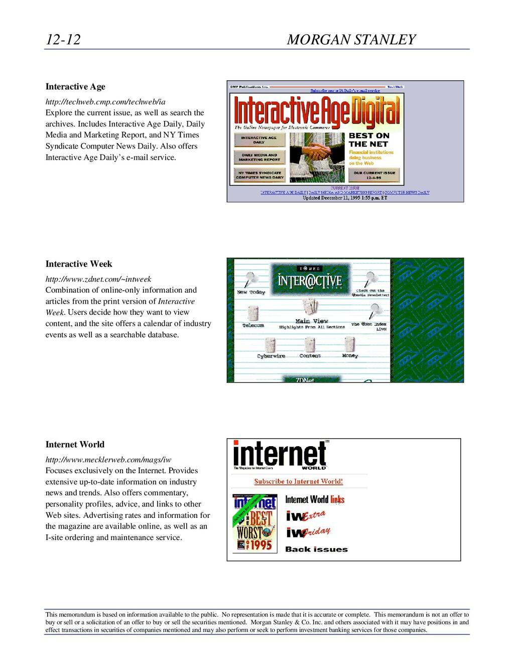 12-12 MORGAN STANLEY This memorandum is based o...