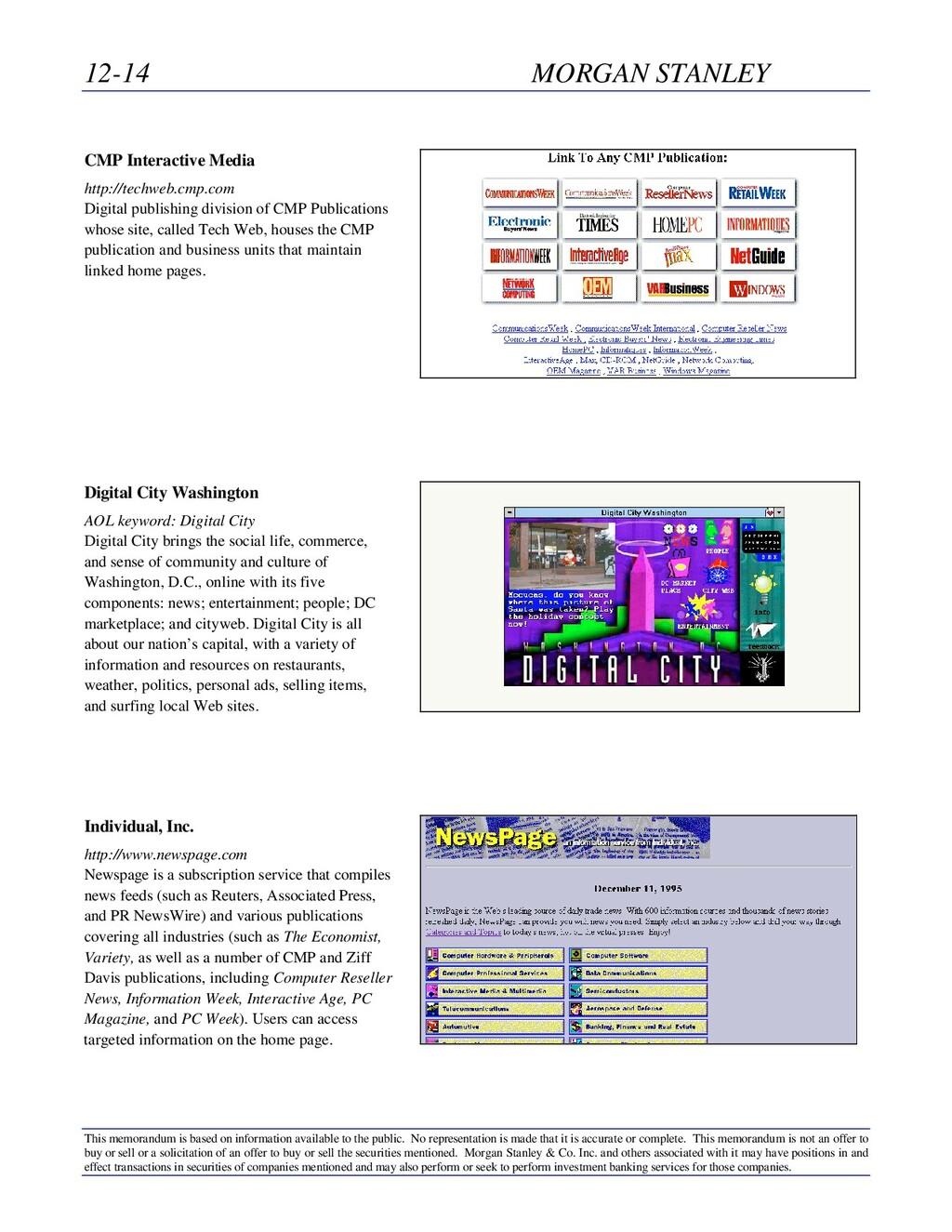 12-14 MORGAN STANLEY This memorandum is based o...