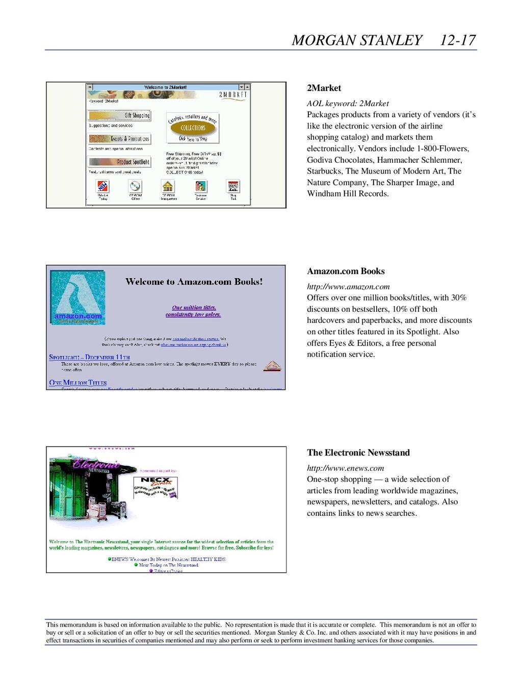 MORGAN STANLEY 12-17 This memorandum is based o...