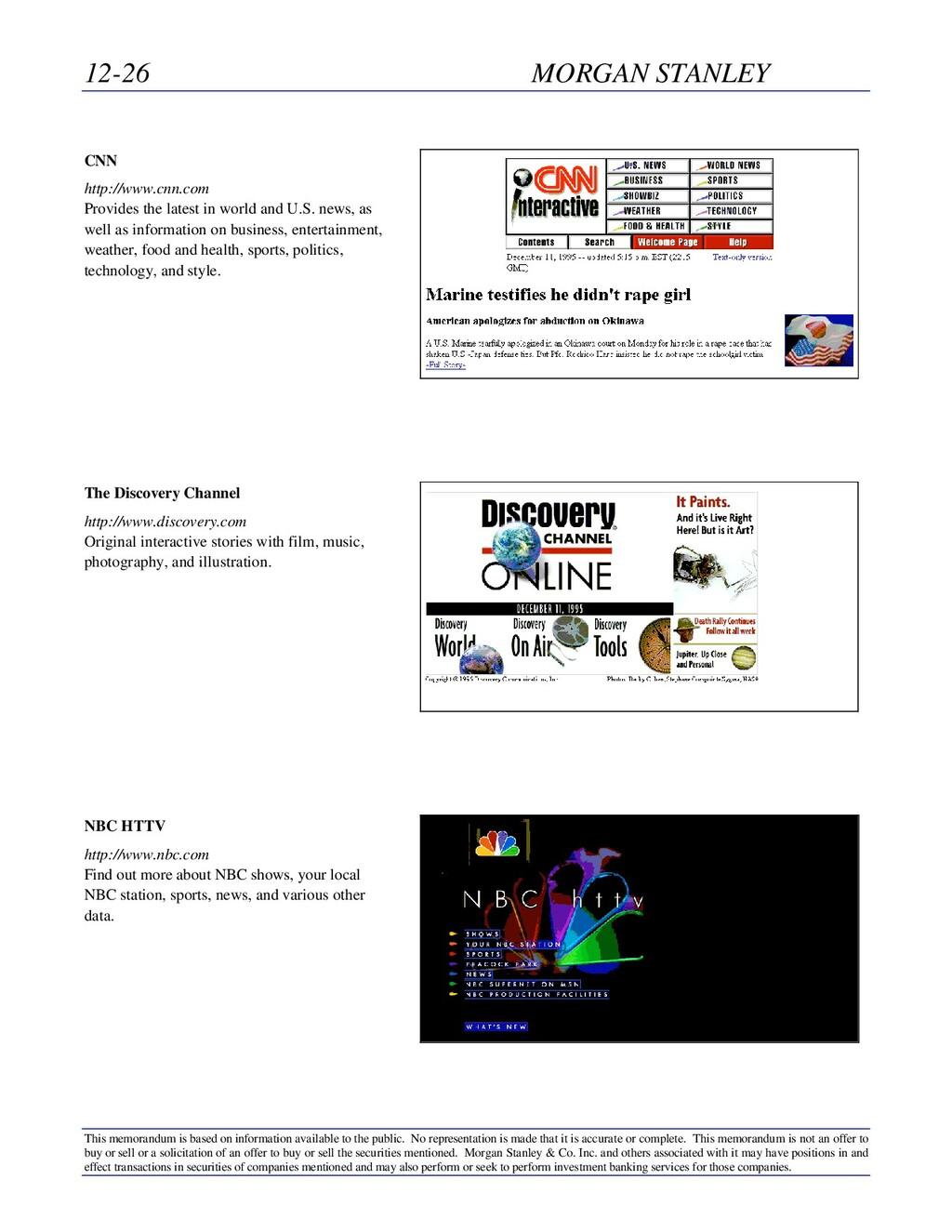 12-26 MORGAN STANLEY This memorandum is based o...