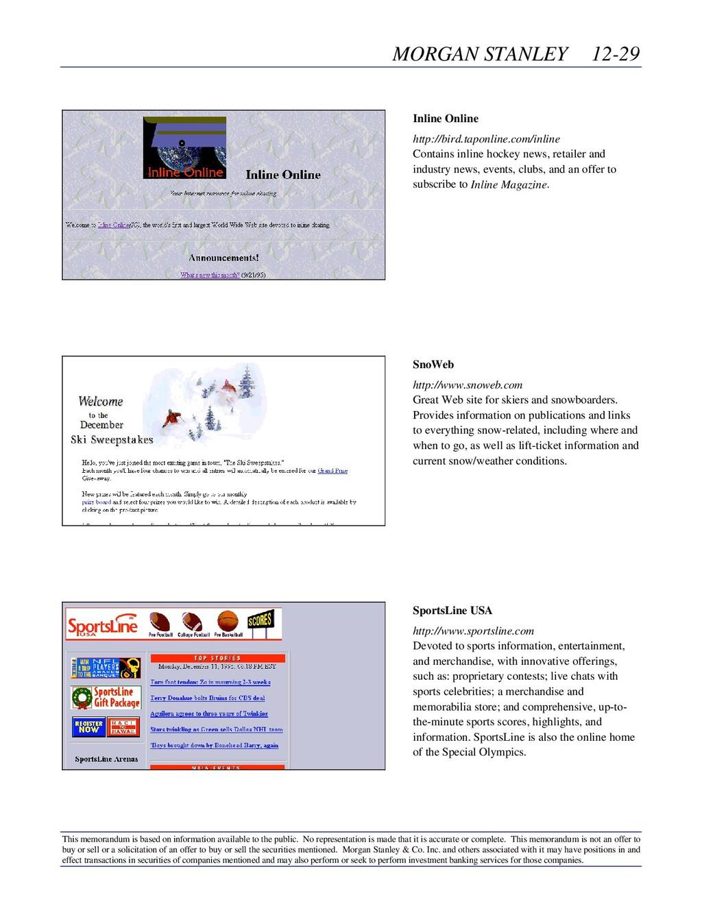 MORGAN STANLEY 12-29 This memorandum is based o...