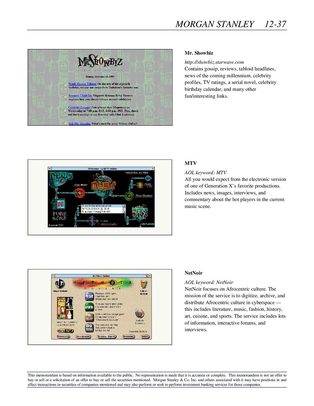 MORGAN STANLEY 12-37 This memorandum is based o...