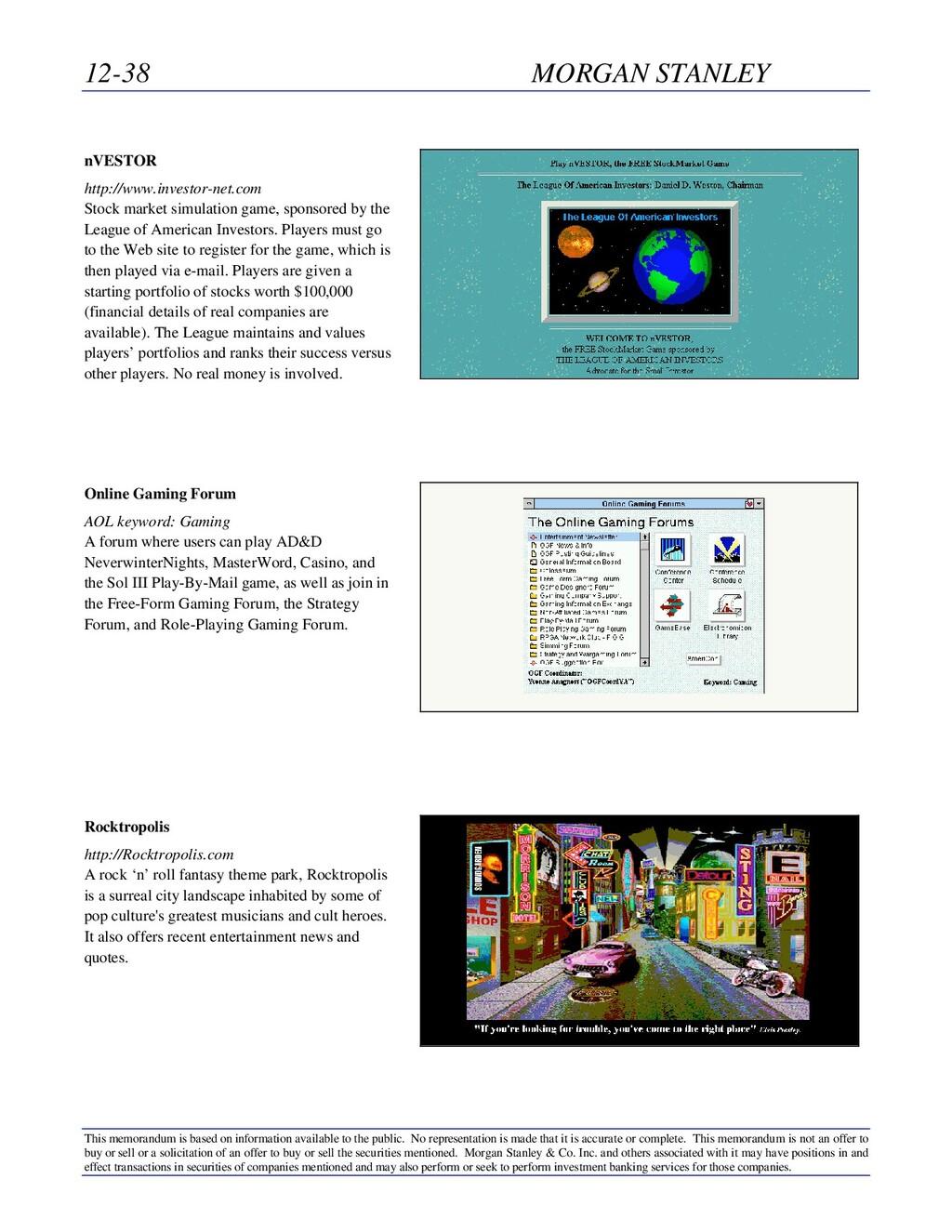 12-38 MORGAN STANLEY This memorandum is based o...