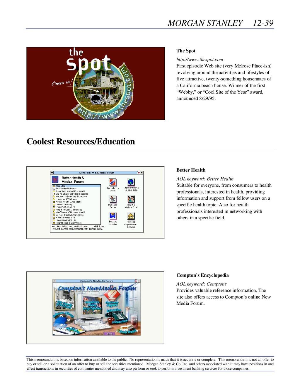 MORGAN STANLEY 12-39 This memorandum is based o...