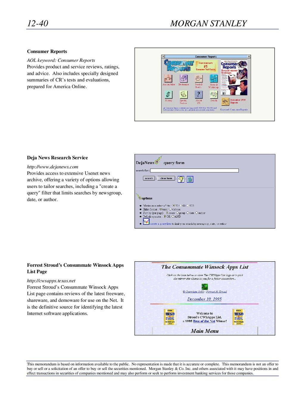 12-40 MORGAN STANLEY This memorandum is based o...