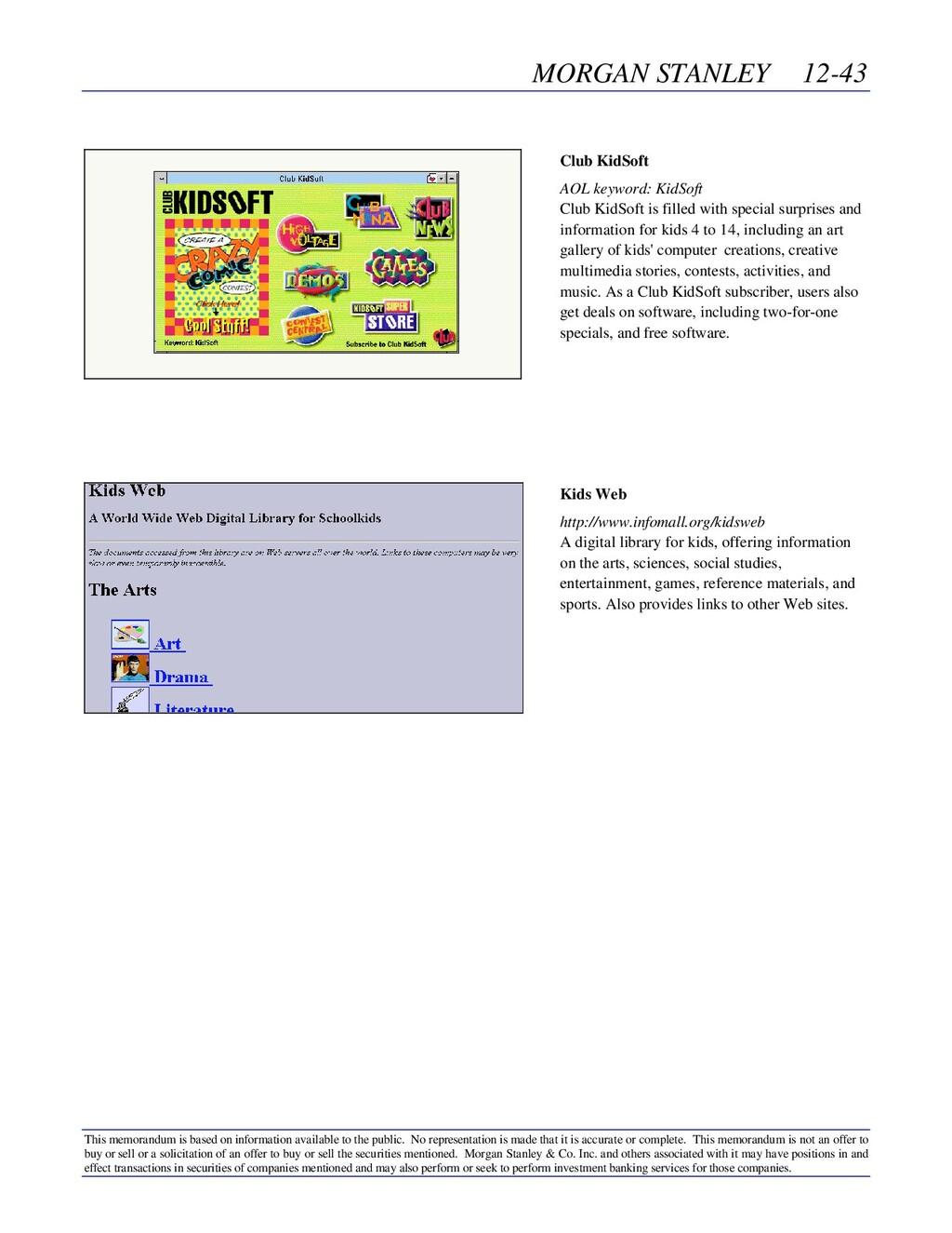 MORGAN STANLEY 12-43 This memorandum is based o...