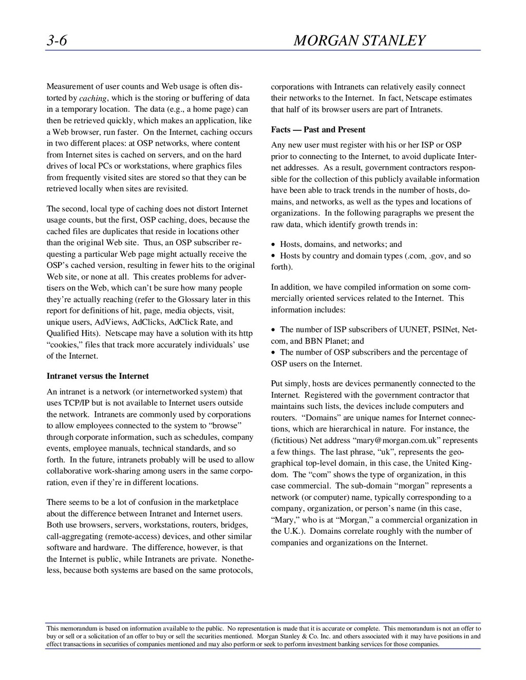 3-6 MORGAN STANLEY This memorandum is based on ...