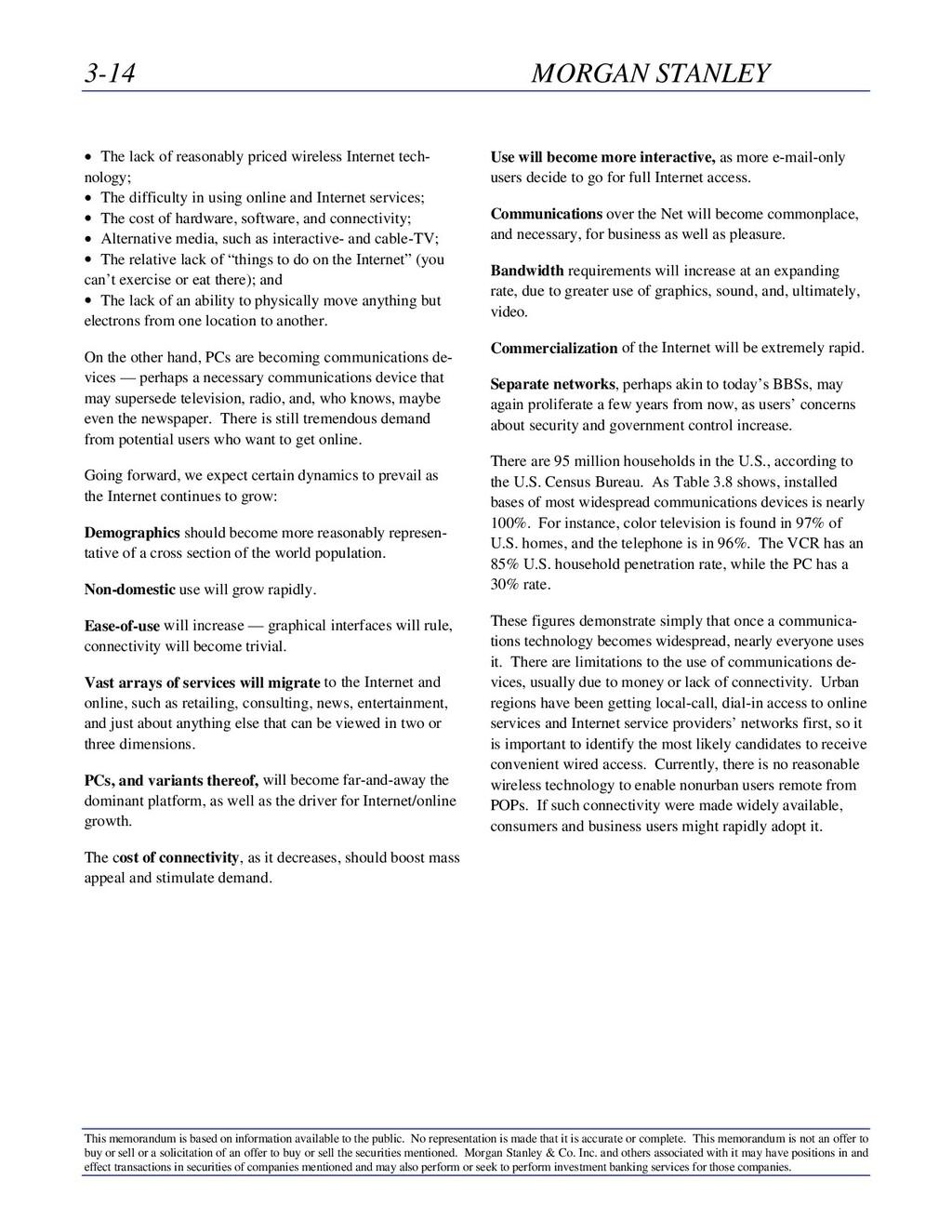 3-14 MORGAN STANLEY This memorandum is based on...