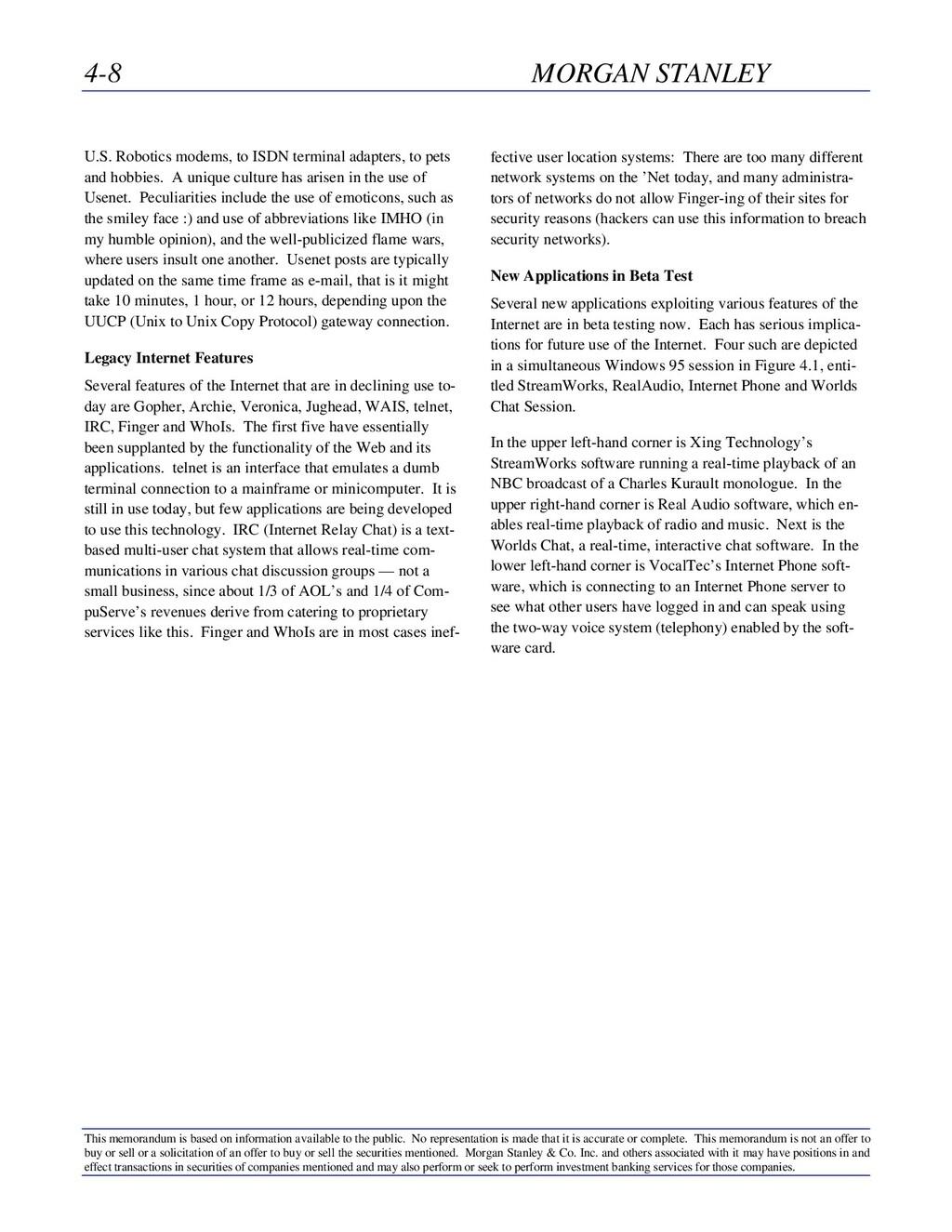 4-8 MORGAN STANLEY This memorandum is based on ...