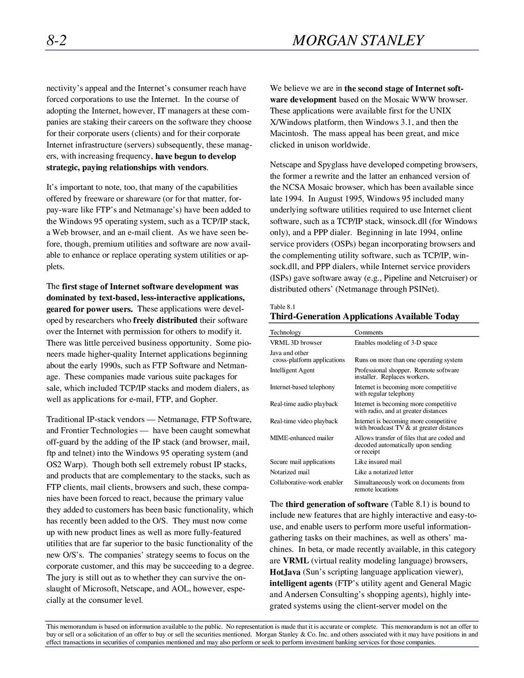 8-2 MORGAN STANLEY This memorandum is based on ...