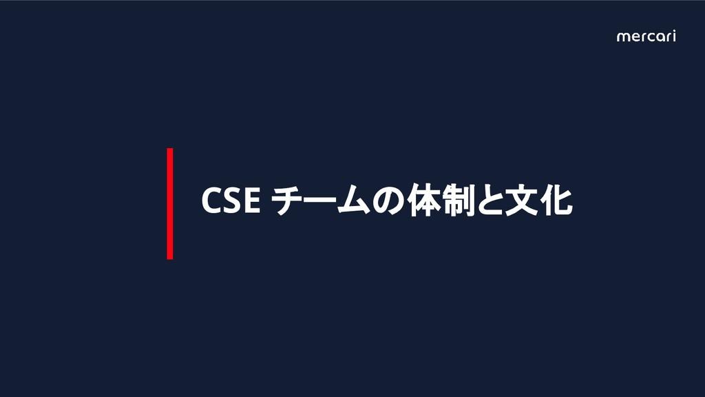 CSE チームの体制と文化