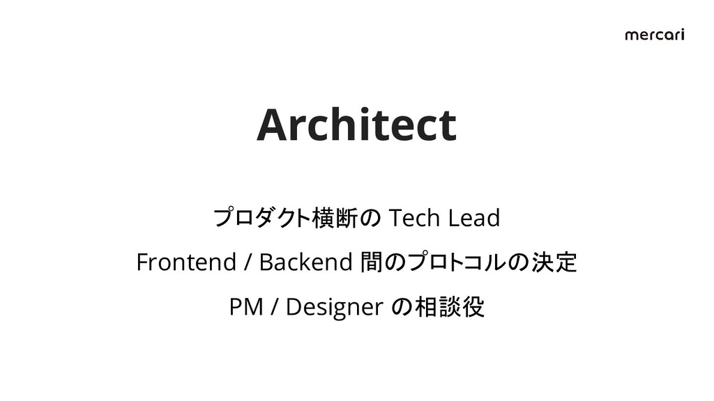 プロダクト横断の Tech Lead Frontend / Backend 間のプロトコルの決...