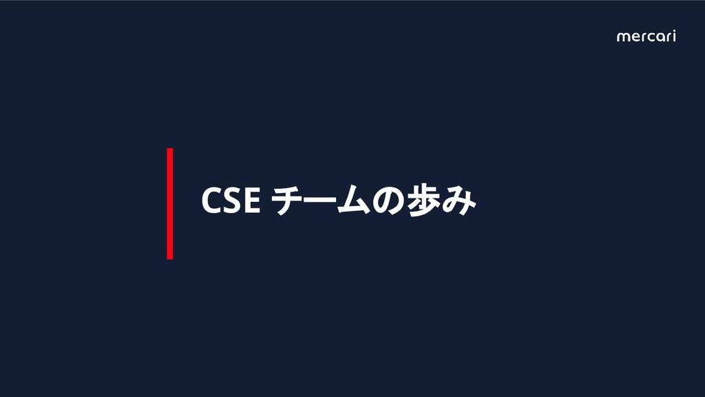 CSE チームの歩み