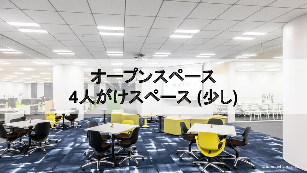 © kaonavi Inc. 24 © kaonavi Inc. オープンスペース 4人がけス...