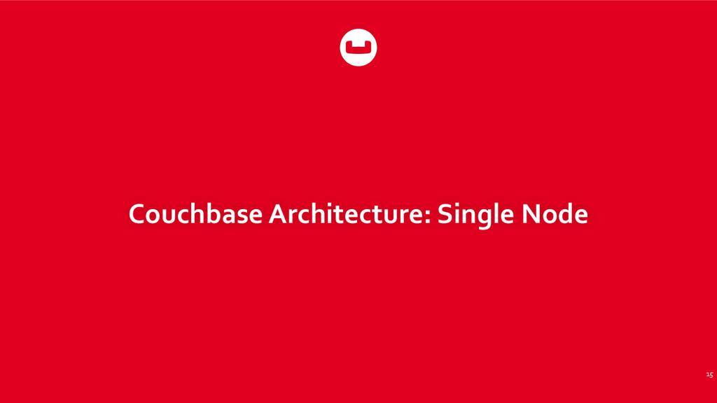 Couchbase Architecture: Single Node 15