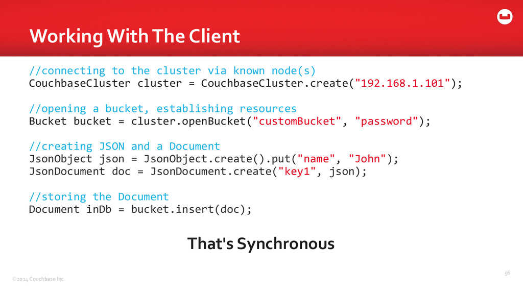 ©2014 Couchbase Inc. Working With T...