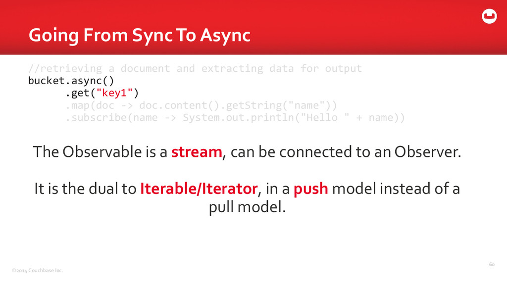 ©2014 Couchbase Inc. Going From Syn...