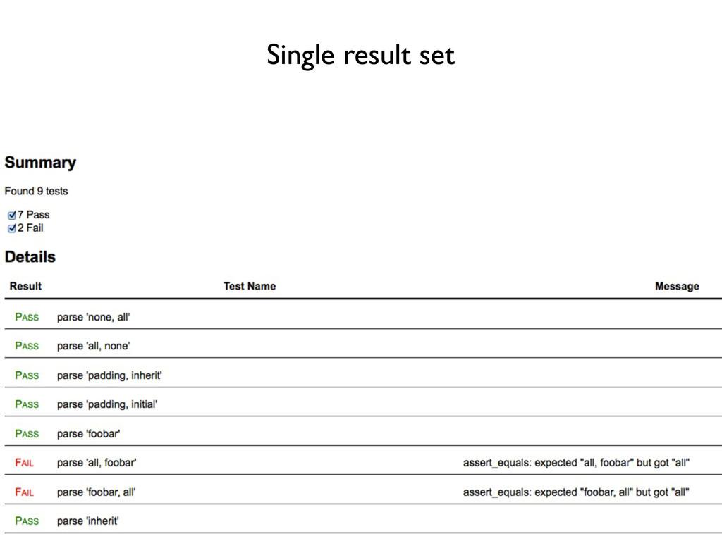 Single result set
