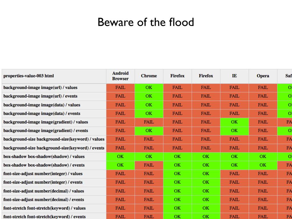 Beware of the flood