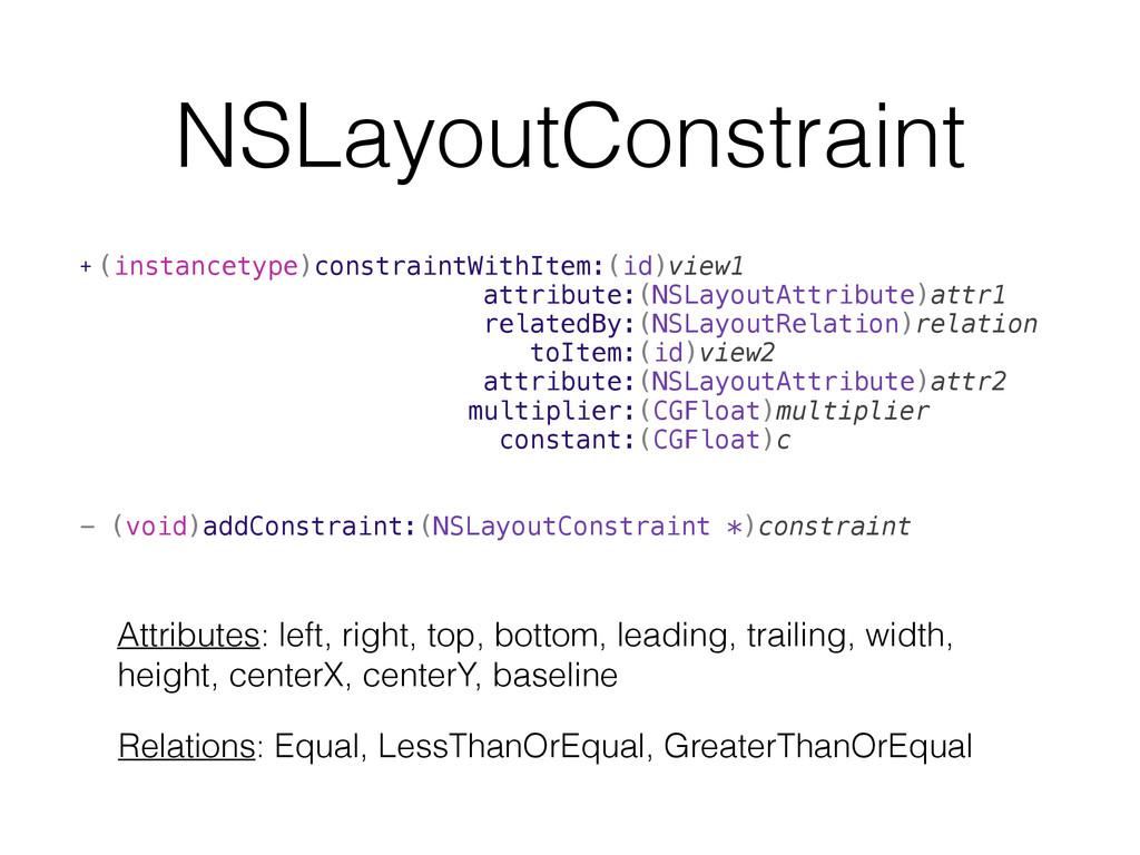 NSLayoutConstraint + (instancetype)constraintWi...