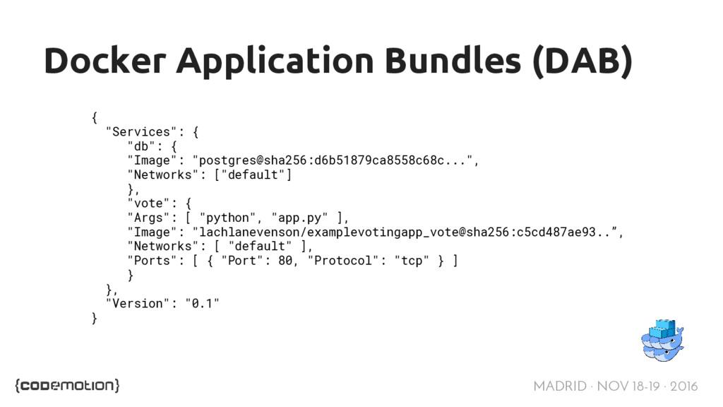 MADRID · NOV 18-19 · 2016 Docker Application Bu...
