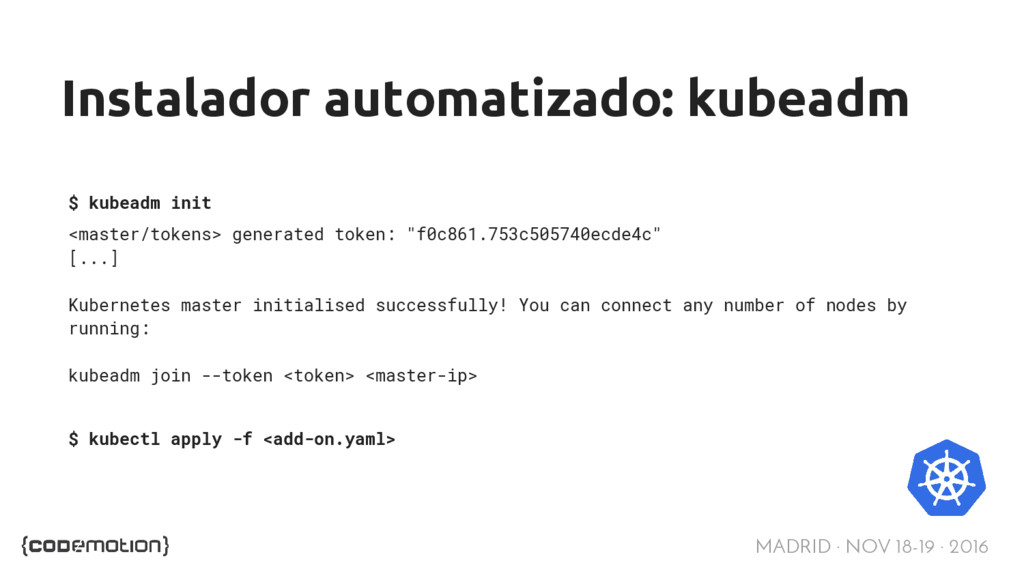 MADRID · NOV 18-19 · 2016 Instalador automatiza...
