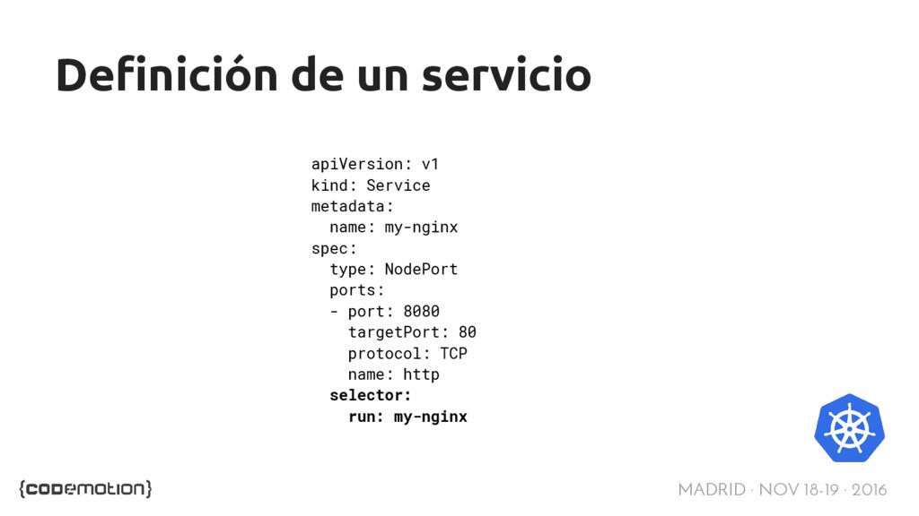 MADRID · NOV 18-19 · 2016 Definición de un serv...