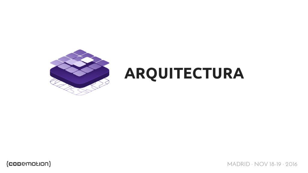 MADRID · NOV 18-19 · 2016 ARQUITECTURA