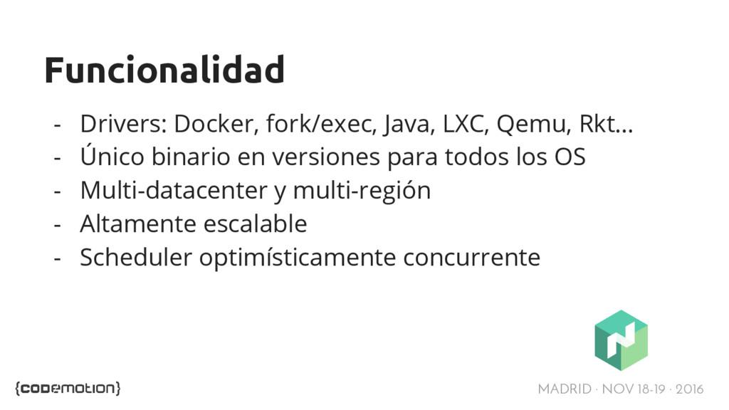 MADRID · NOV 18-19 · 2016 Funcionalidad - Drive...