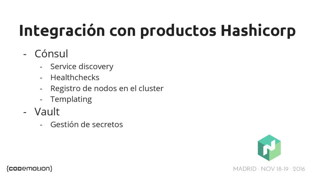 MADRID · NOV 18-19 · 2016 Integración con produ...