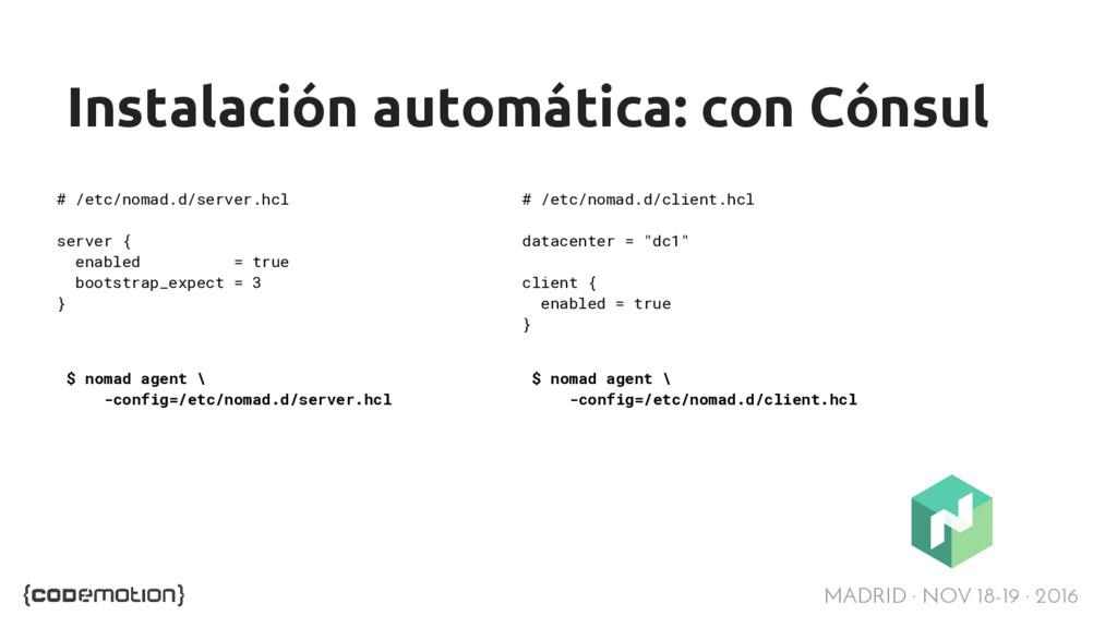 MADRID · NOV 18-19 · 2016 Instalación automátic...