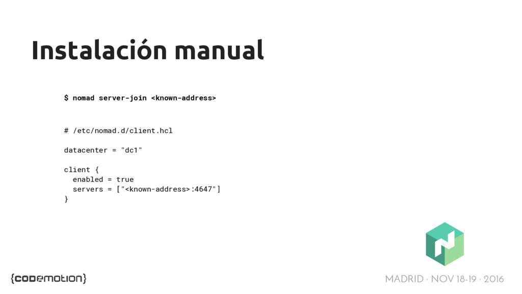 MADRID · NOV 18-19 · 2016 Instalación manual $ ...