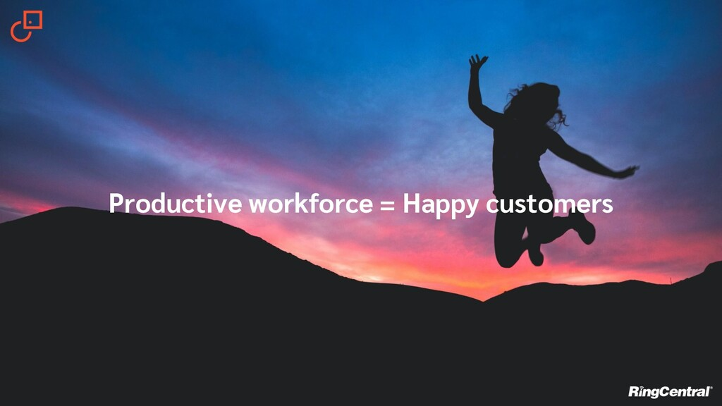 Productive workforce = Happy customers