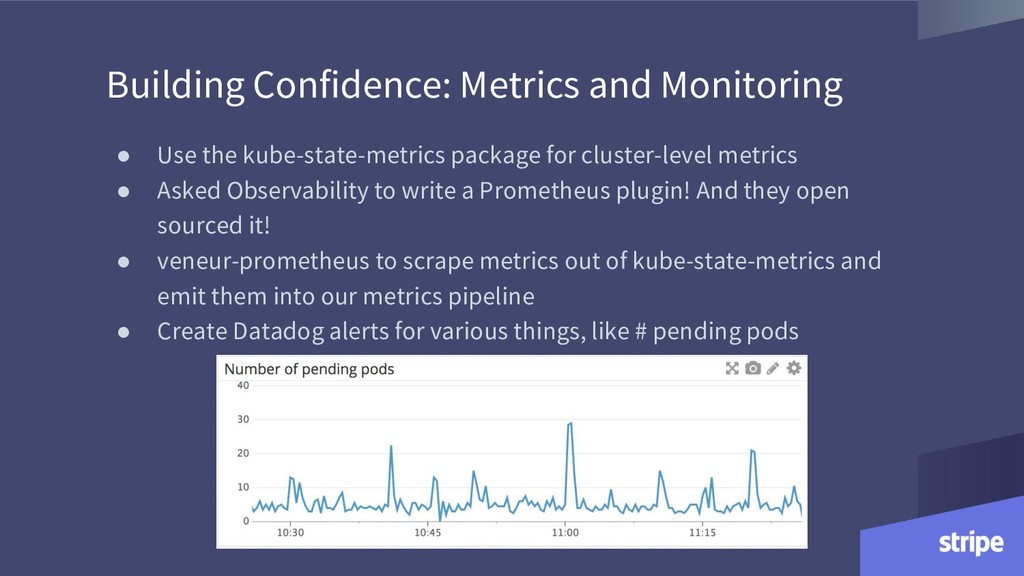Building Confidence: Metrics and Monitoring ● U...