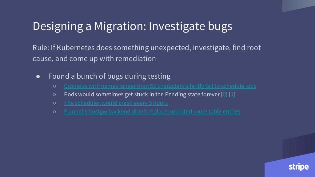 Designing a Migration: Investigate bugs Rule: I...