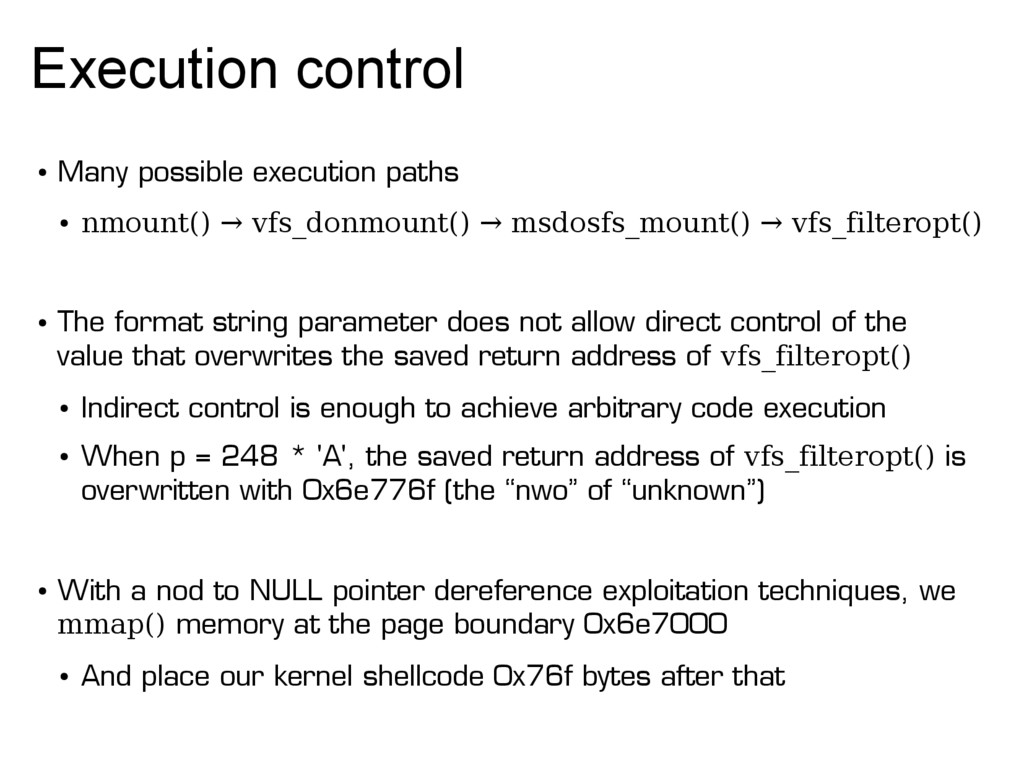Execution control ● Many possible execution pat...