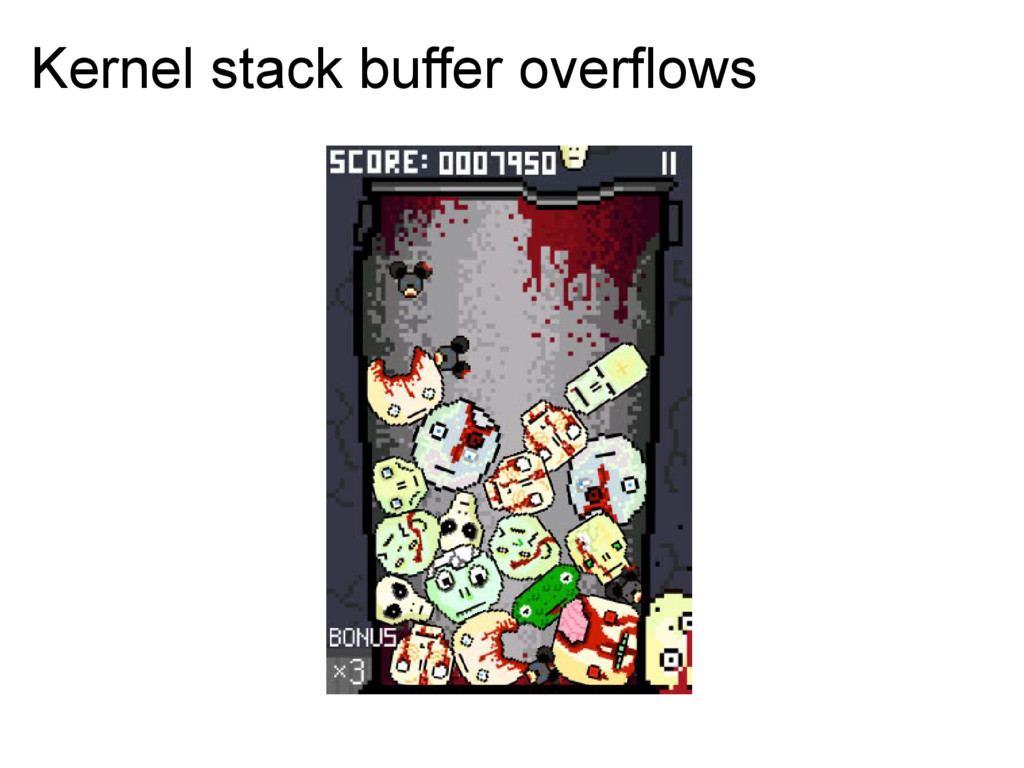Kernel stack buffer overflows
