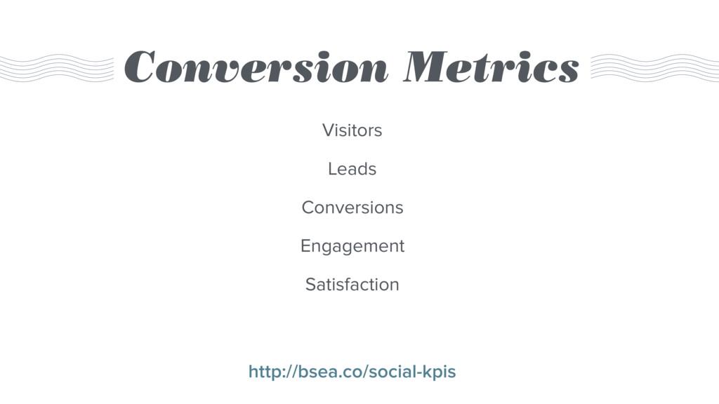 Conversion Metrics Visitors Leads Conversions E...
