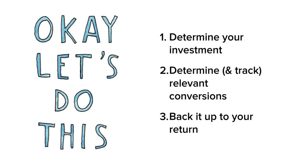 1. Determine your investment 2.Determine (& tra...